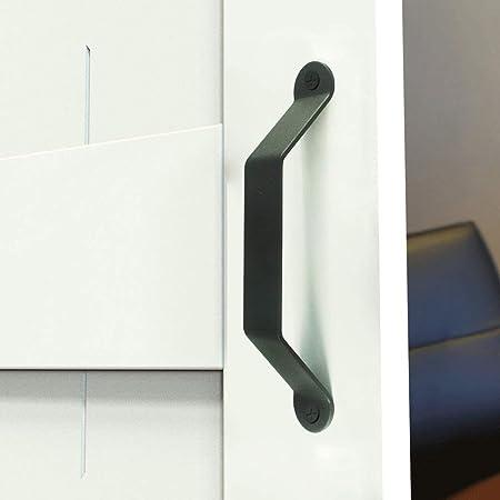 Pomos de las puertas 2 piezas de estilo industrial, puerta de granero de hierro, manija de puerta, puerta corrediza, hardware for muebles, puertas de gabinete, garajes, cobertizos de usos múltiples co: Amazon.es: