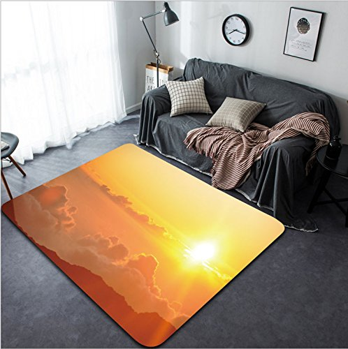 Vanfan Design Home Decorative Sunrise from Haleakala Crater in Maui Hawaii Modern Non-Slip Doormats Carpet for Living Dining Room Bedroom Hallway Office Easy Clean Footcloth by vanfan