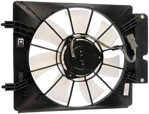 APDTY 731358 AC Condenser Cooling Fan Blade Motor Shroud Assembly Fits 2003-2006 Honda Element or CRV (Passenger-Side Mounted; Replaces Honda 38611-PZD-A01, 38615-PZD-A01, 38616-P3G-003)