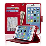 Navor Protective Flip Wallet Case for iPhone 6/6S [4.7 inch] - Red (IP6ORD)