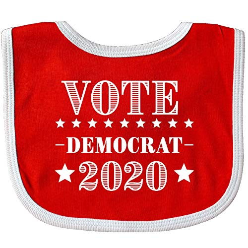 Inktastic - Vote Democrat 2020 Baby Bib Red/White 33b14