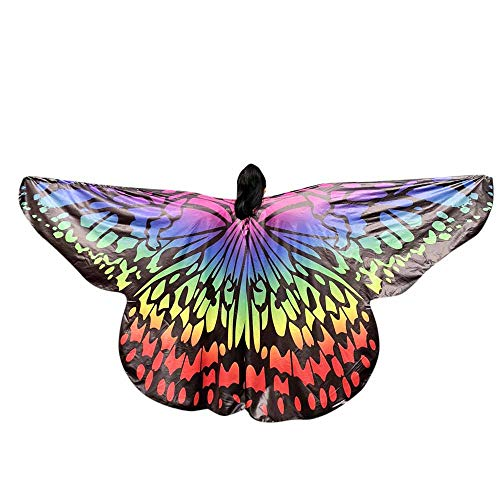 VEFSU Kids Baby Girl Party Belly Dancing Costume Butterfly Wings Dance Accessories No Sticks (H) for $<!--$24.26-->