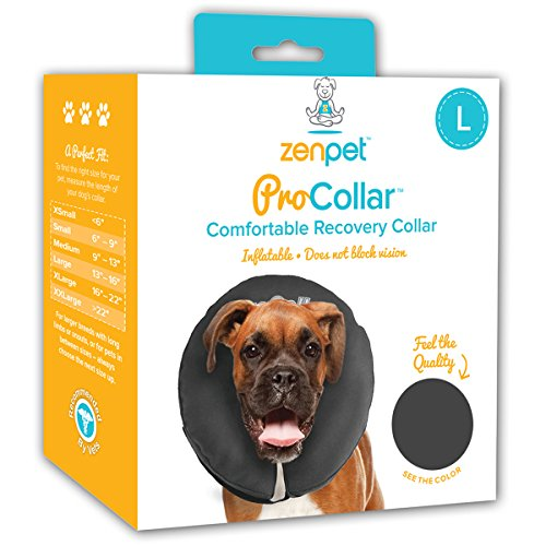 ZenPet Pro Collar Comfy Pet E-Collar For Dogs - Procollar Inflatable