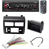 Kenwood KDC-168U CD/MP3/WMA Player Built-in Pandora iHEART Radio Front AUX USB Car Stereo Radio Blue Dash Kit Antenna Harness for Chevy GMC Trucks 1988-1994