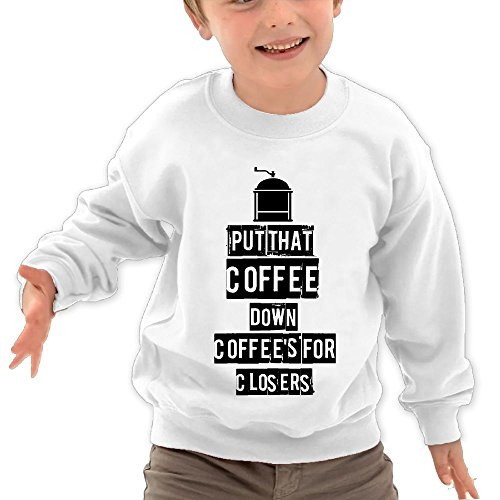 Price comparison product image Ocfing Put That Coffee Down Coffee's For Closers Child Toddler Cute Hoodie Sweatshirt