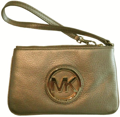 Women's Michael Kors Fulton Leather Wristlet Bronze