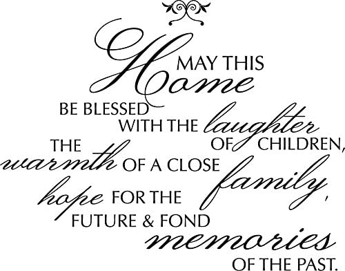 """/""""May This Home/"""" Removable Wall Art Quotes Vinyl Decal Stickers Home Decor Mural"""