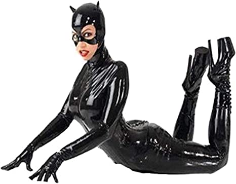 WHG Disfraz de Gato Mujer Costume Catsuit Traje con Mascara ...