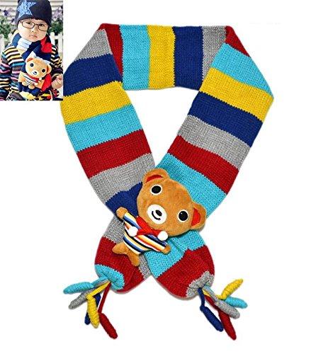 S Cloth Winter Lovely Bear Children Kids Scarfs Boys Girls Animal Fashion Warm Retail Scarf