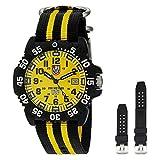Luminox 3955.SET Men's Sea Scott Cassell Specials Yellow Dial Interchangeable Strap Dive Watch Set