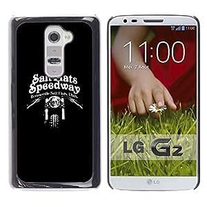 Be Good Phone Accessory // Dura Cáscara cubierta Protectora Caso Carcasa Funda de Protección para LG G2 D800 D802 D802TA D803 VS980 LS980 // Salt Flats Speedway Motorcycle Biker