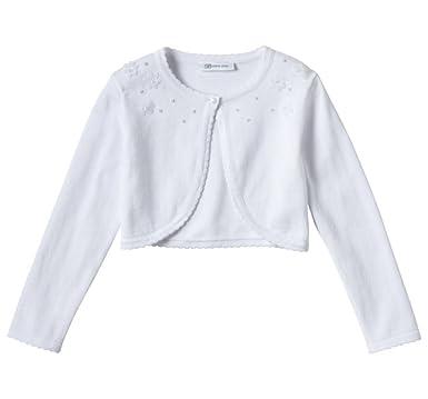 c96aa7f5f Amazon.com  Bonnie Jean Little Girls  Embellished Shrug Cardigan ...