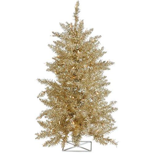 Vickerman B986721LED Artificial Christmas Tree with 115 PVC Tips & 35 Dura-Lit Italian LED Mini Lights, 2' x 23