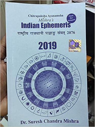 Amazon in: Buy Indian Ephemeris 2019 Book Online at Low Prices in