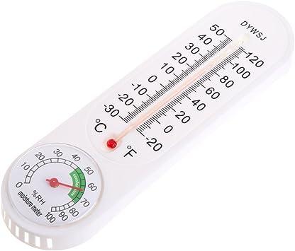 Termómetro, termómetro de pared, higrómetro, temperatura para interior y exterior, jardín, oficina: Amazon.es: Bricolaje y herramientas