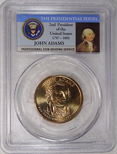 2008 P Pos. B John Quincy Adams Presidential Dollar PCGS MS 66 FDI Presidential Label Holder ()