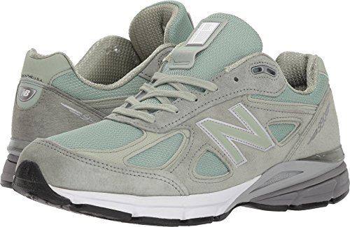 New Balance Men's 990v4 Running Shoe, Silver Mint/White, 10 D US -  M990SM4-331-10 D US