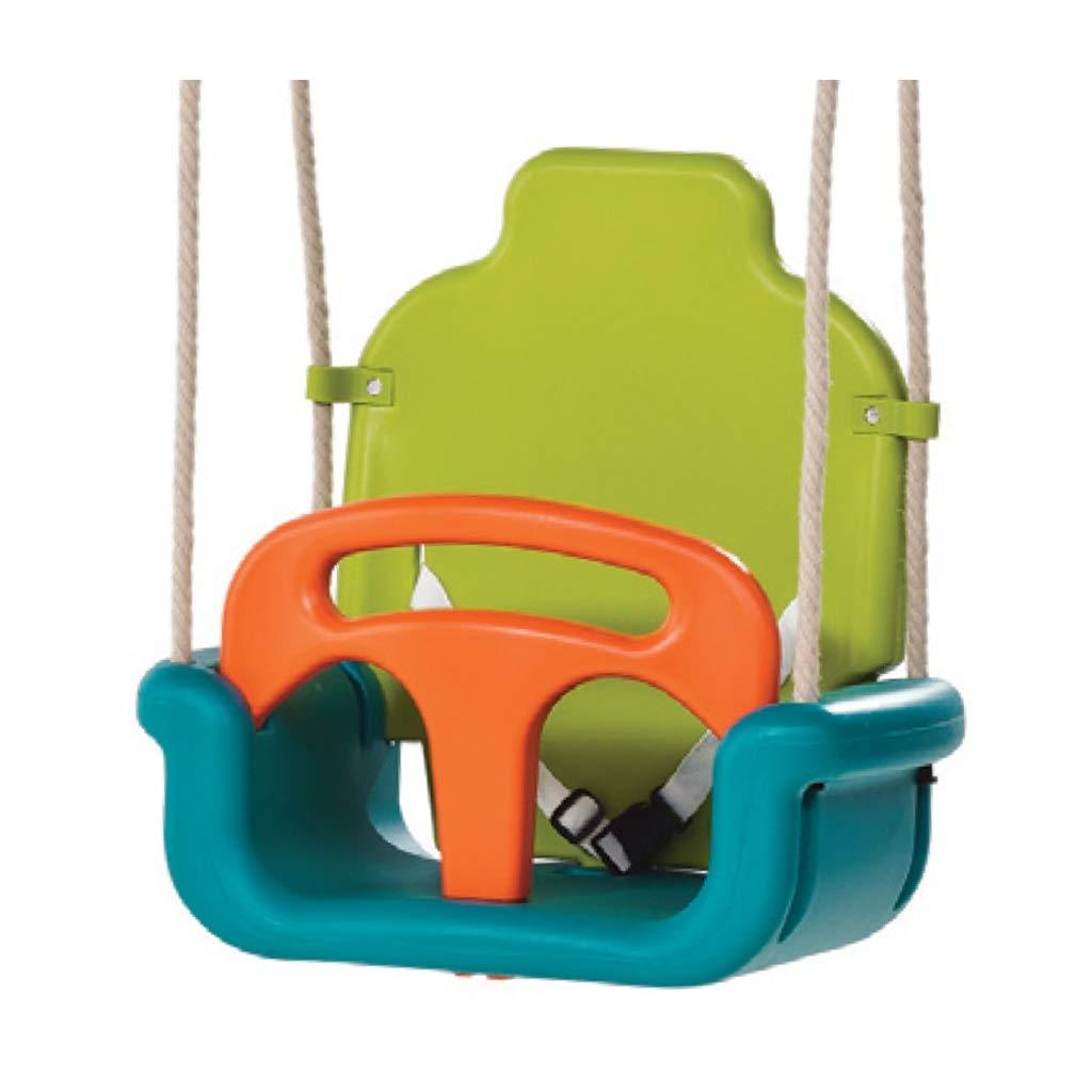Kinderwachstumstyp Schaukel nach Hause Innenverdickung DREI-in-1 Außenschaukel Schaukel Vorne und Hinten Abnehmbare Babyschaukel (Farbe   Grün) Grün