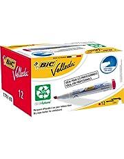 BIC Velleda 1751 Ecolutions filc do wycierania na sucho - czerwony, pudełko 12 szt.