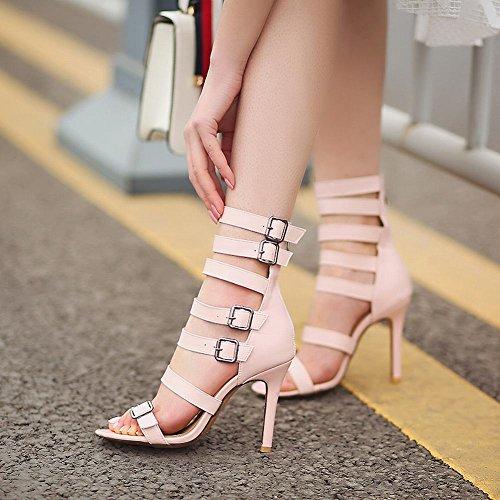 Sandali Donna Moda Tacco Rosa Alto MissSaSa UAwq15xx