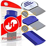 Head LICE Comb Set for Fast Nit and Lice Removal - Best Results on All Different Types of Hair from HandyHealer