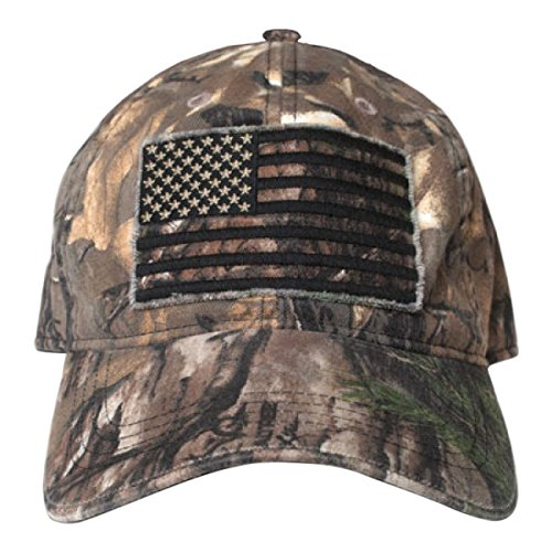 Buck Wear Men's Smooth Operator Hat with Black Out American Flag, One Size, Camouflage