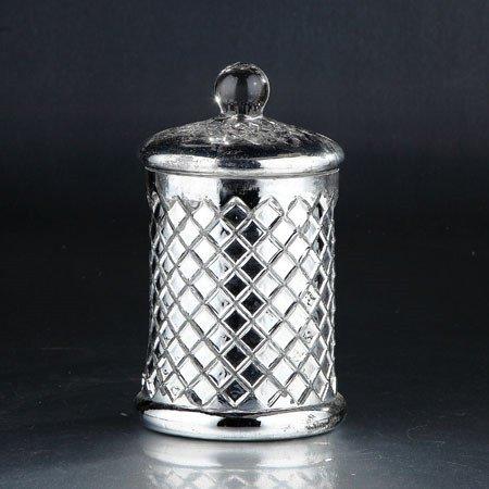 Diamond Star 51347 8.5 x 5.5 in. Glass Jar with Lid44; Silver (Diamond Star Corp)