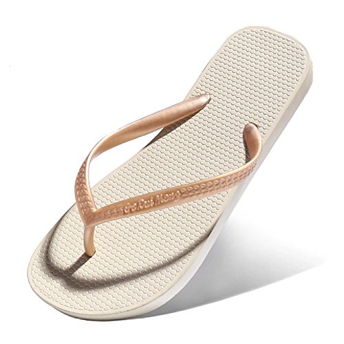 Sandales Classiques Pour Femmes Été Tongs Plage Anti-dérapant Abricot