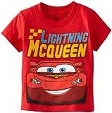Disney Little Boys' Cars Lightning Mcqueen Toddler Tee, Red