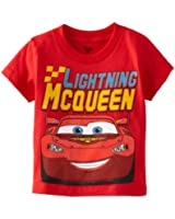 Disney Little Boys' Cars Lightning Mcqueen Toddler Tee, Red
