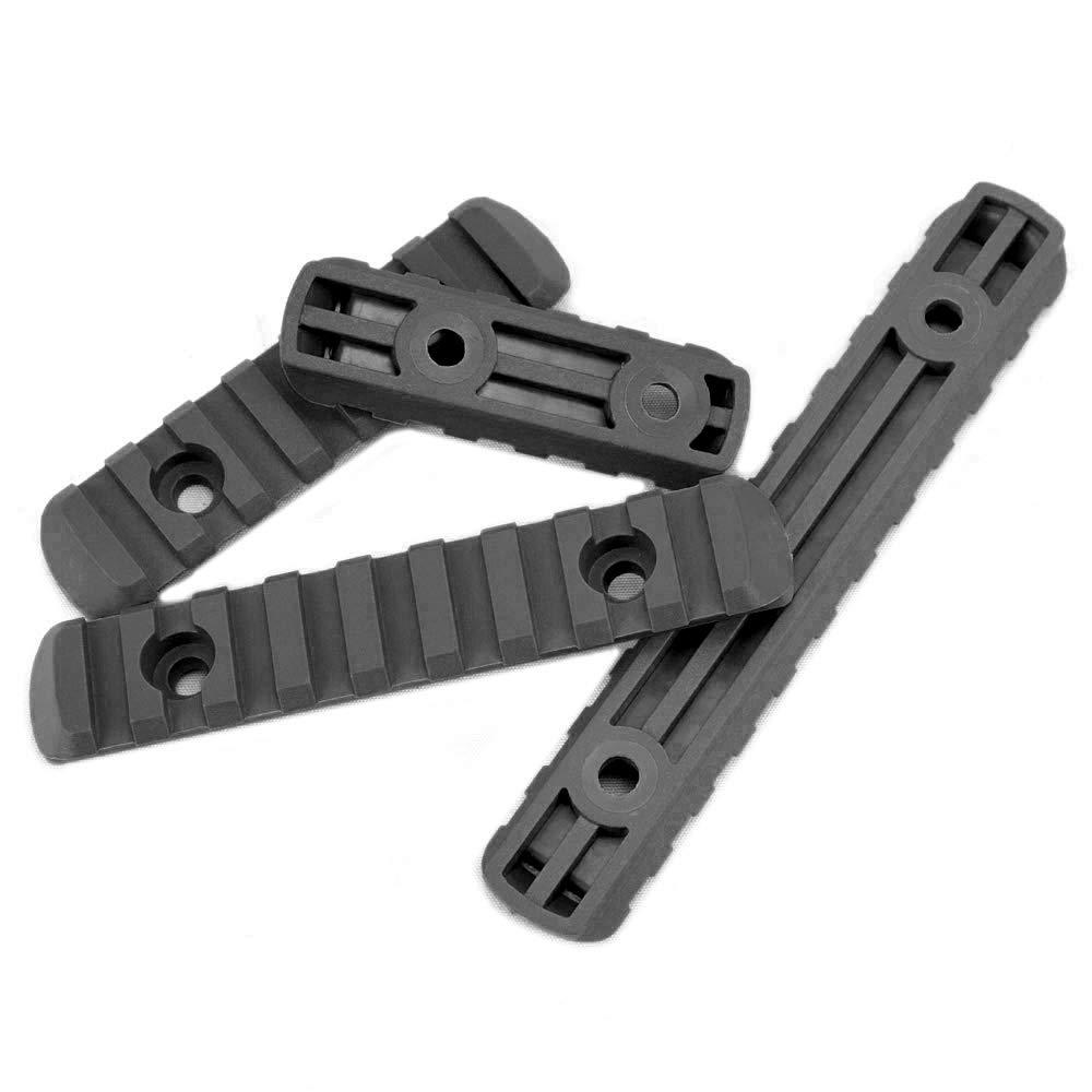 ActionUnion 4pcs Tactical M-Lok Rail Sections Set Polymer for MOE Handguard Picatinny Weaver Rails Hand Guards Laser-Scope Hunting 5//7//9//11-Slot