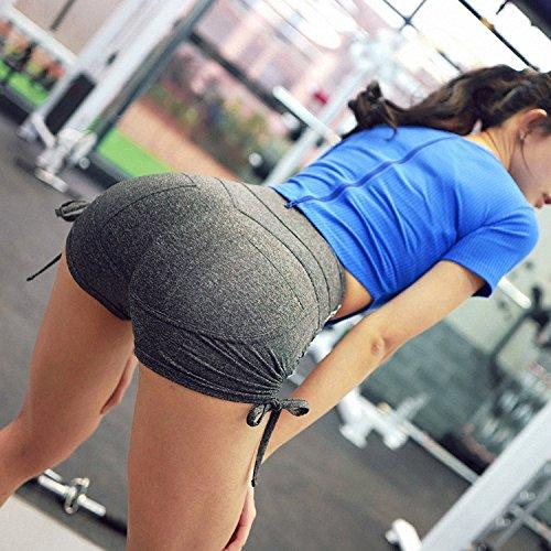 Lisli Femme Fille Haute Silm Gris Sport Plage t Mode Coton ud Short Casual PantsTaille lastique Fitness Papillon N rrARqdwx