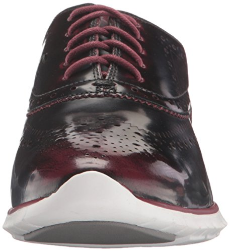 Leather Women's White Optic Brush Red Oxford Zinfandel Zerogrand UK Wing Off 6 Haan Cole 5 7qw6TT