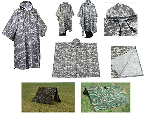 Waterproof-Rip-Stop-ACU-Digital-Military-GI-Style-  sc 1 st  Discount Tents Nova & Waterproof Rip Stop ACU Digital Military G.I. Style Poncho Tent ...