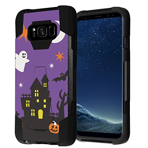 Galaxy S8+ Case, Galaxy S8-Plus Case, Capsule-Case Hybrid Fusion Dual Layer Shockproof Combat Kickstand Case (Black) for Samsung Galaxy S8+ S8Plus SM-G955 SPHG955 - -