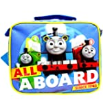 """Team Thomas the Train Engine """" ALL ABOARD"""" Canvas Blue Insulated Lunch Bag"""