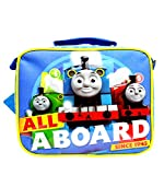 Team Thomas the Train Engine ' ALL ABOARD' Canvas Blue Insulated Lunch Bag