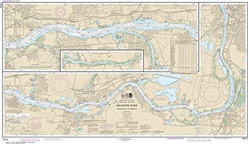 MapHouse NOAA Chart 12314 Delaware River Philadelphia to Trenton: 26.38