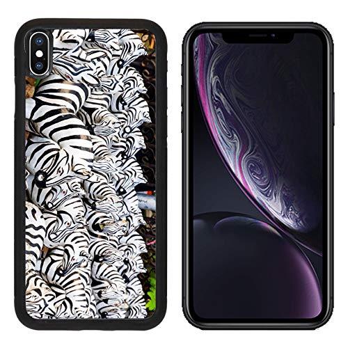 Liili Premium Apple iPhone XR Aluminum Backplate Bumper Snap Case Image ID: 27967626 Zebra Statue at The Shrine for Worship