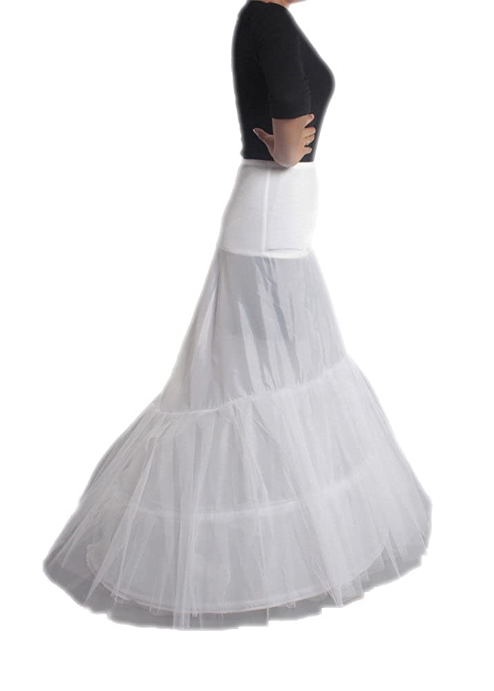 XYX Petticoat WEDDING PETTICOAT UNDERSKIRT FISHTAIL WHITE XS-M at Amazon Womens Clothing store: