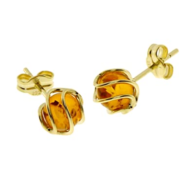 InCollections 0090160102401 Amber 8ct Yellow Gold Earrings D8uBtLtm