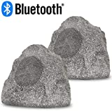 Acoustic Audio RSG8BT Powered Bluetooth Indoor or Outdoor Granite 8