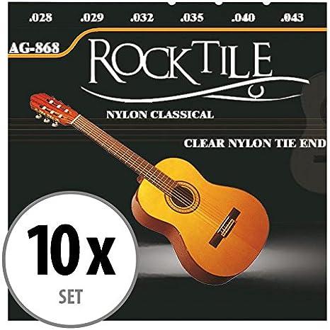 Rocktile cuerdas para guitarra de concierto super ligeras pack de 10: Amazon.es: Instrumentos musicales