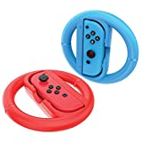 Maxboost Joy-Con Wheel for Nintendo Switch (2 Pack), Steering Wheel Accessory Attachment, Wheel Grip for Use With Nintendo Switch Joy-Con Controllers (Blue and Red) For Sale