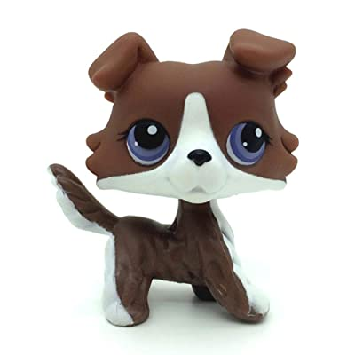 jjlin Rare Mini Pet Shop Brown Collie Dog with Purple Eyes Puzzle #NO LPS: Toys & Games