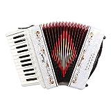 Rossetti Beginner Piano Accordion 12 Bass 25 Keys White