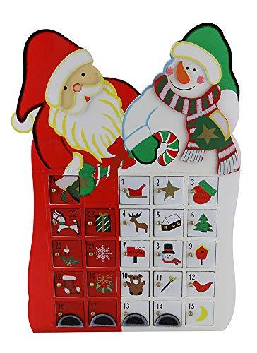 [해외]선물 플라자 (D) 눈사람 강림절 달력과 수제 크리스마스 장식 세인트 클로스 / GIFTS PLAZA (D) Handcrafted Christmas Decor St.Claus with Snowman Advent Calendar