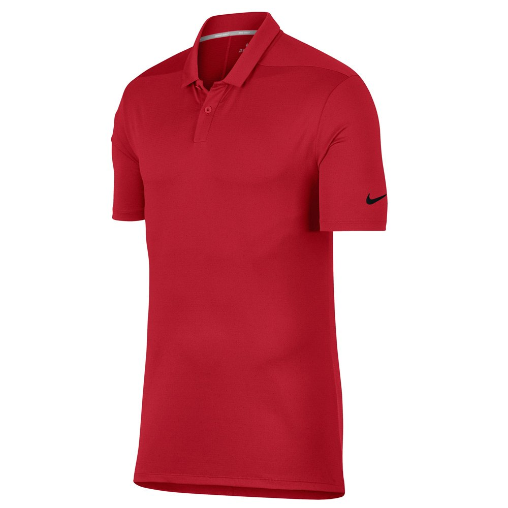 NIKE Breathe Texture OLC Golf Polo 2018 University Red/Black Small by Nike