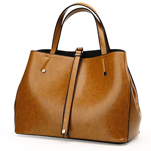 Vegan Leather Top Handle Women Handbag & Purse - Ladies Tote Boston Bag