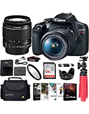 $549 » Canon EOS Rebel 2000D DSLR Camera Bundle with Canon EF-S 18-55mm f/3.5-5.6 is II Lens + Gadget Case + Sandisk 128gb Ultra Memory Card + Photo Software Suite + Accessory Kit + TopKnotch Kit